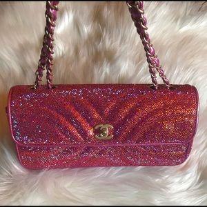 Authentic Chanel Single Flap Strass Shoulder Bag